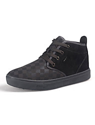 Men's Flats Fall / Winter Comfort PU Casual Flat Heel Others / Lace-up Gray / Coffee Others