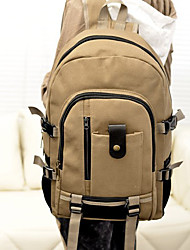 Unisex Bags All Seasons Canvas Backpack with for Casual Outdoor Black Beige Brown Army Green Khaki