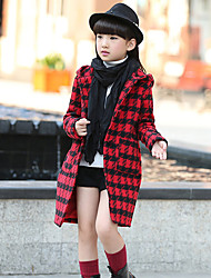 Girl's Casual/Daily Plaid Jacket & CoatCotton Winter Pink / Red / White / Beige