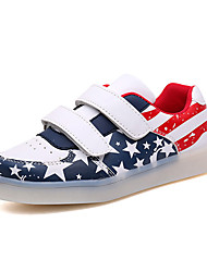 Boy's Sneakers Spring / Fall Comfort Fabric Casual Flat Heel Magic Tape Blue / Pink / Red Sneaker