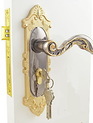 Interior Door Lock / Lock Set / Gold and Black Ni Plating Finish(Available for thickness of door: 35mm to 50mm  )