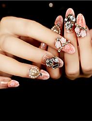 24pcs perles de diamants OING bandes de clous exquis 1set élégant