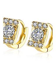 XU Women Fashion Square Diamond Ear Clip