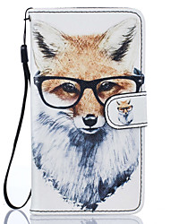 Dog with Glasses Pattern PU Leather Full Body Case with Stand for Lenovo Vibe K5