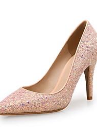 Women's Heels Other Microfibre Glitter Wedding Dress Party & Evening Stiletto Heel Sequin Sparkling Glitter Pink