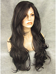 IMSTYLE 26''Natural Looking Long Wave 150%-180%Heavy Density Synthetic Lace Front Wigs For Black Women