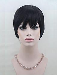 100% Human Hair Short Wigs For Black Women Short Capless Wigs