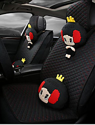 2016 New Cartoon Flax Car Seat Cushion Seat Seasons Pad Cushions Automotive Supplies