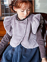 Girl's Casual/Daily Solid VestCotton Spring / Fall Gray