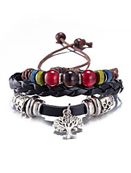 Women's Charm Bracelet Leather Fashion Black Jewelry 1pc
