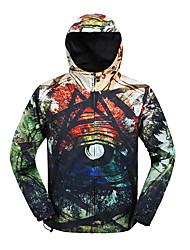 Men's Casual/Daily Sexy / Cute Regular HoodiesPrint Multi-color Round Neck Long Sleeve Cotton