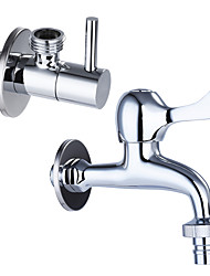 Contemporary Standard Spout Centerset Clawfoot with Brass Valve Single Handle One Hole for Chrome Kitchen faucet/ Angle valve JL-LX01/JL-JF02