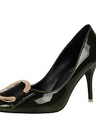 Feminino-Saltos-Conforto / Inovador / Gladiador-Salto Agulha-Preto / Verde / Roxo / Vermelho / Vinho / Azul Real-Courino-Casamento /