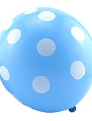 Ballons Urlaubszubehör Kreisförmig 100Pcs Regenbogen