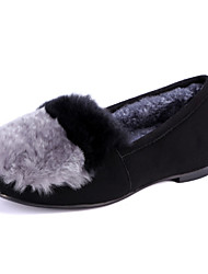 Women's Loafers & Slip-Ons Spring / Fall / Winter Comfort Fur Dress / Casual Flat Heel Slip-on Red / Gray Others