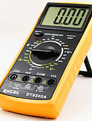 DT9205A New Hand - Held Screen Digital Intelligent DC High Precision Multimeter  yellow