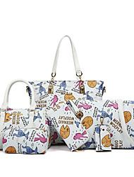 Feminino Couro Ecológico / Poliéster Casual Conjuntos de saco
