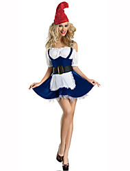Santa Suits Festival Costumes Red/Blue Solid Dress / Hat / Belt Christmas Terylene