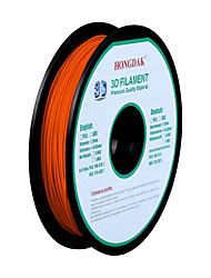 hongdak 3d imprimante 3d filament consommables d'impression matériel (pla abs1.75mm 3.0mm0.5kg)