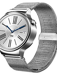 Men's Smart Watch Digital Stainless Steel Band Silver