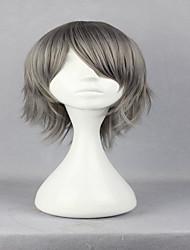 Anime Hitman Reborn Gokudera Hayato 32cm Short Straight Grey Fashion Party Wig Cosplay Wig