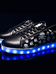 Unisex Sneakers Spring / Fall Comfort Fabric Casual Flat Heel Black Sneaker