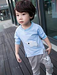 Jungen T-Shirt / Hose / Kleidungs Set-Lässig/Alltäglich Druck Baumwolle Frühling / Herbst Blau / Rosa
