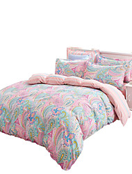 Mingjie  Wonderful Pink and Blue Flowers Bedding Sets 4PCS for Twin Full Queen King Size from China Contian 1 Duvet Cover 1 Flatsheet 2 Pillowcases