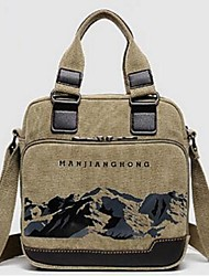 Unisex Canvas Casual / Outdoor Tote Blue / Green / Brown / Black / Khaki
