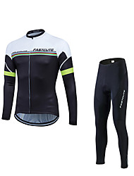 Sport Fahrradhose mit Jacke Herrn Langärmelige Fahhrad warm halten / Windundurchlässig / Fleece Innenfutter / Reflexstreiffen / Antirutsch