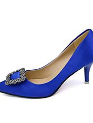 Women's Heels Spring Summer Comfort PU Casual Flat Heel Black Blue Red Gray Other