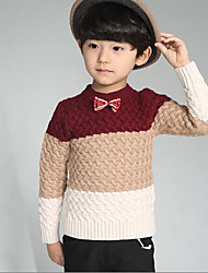 Boy's Casual/Daily Striped Sweater & CardiganWool Winter / Spring / Fall Black / Red