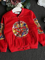 Boy's Casual/Daily Print Jacket & CoatNylon Winter / Fall Black / Red