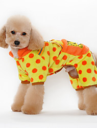 Dog Hoodie Orange / Yellow / Black / Pink Dog Clothes Winter / Spring/Fall Flower Cute / Casual/Daily /