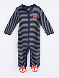 Baby Casual/Daily Striped One-Pieces,Cotton Fall Long Sleeve