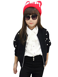 Girl's Casual/Daily Solid Sweater & CardiganWool / Cotton Spring / Fall Black / Purple / Red