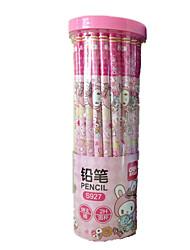 barril lápiz 2H varilla redonda de dibujos animados