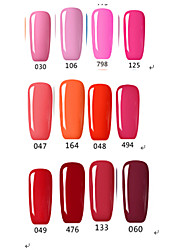 Esmalte de Uñas Gel UV 15ml 1picec Brillante / Esmalte Gel UV de Color Empapa de Larga Duración