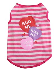 Classic Stripe Heart Cotton Vest Comfortable Breathable Dog clothing