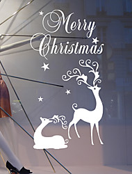 Merry Christmas Wall Stickers Decorative Wall Stickers Material Washable / Re-Positionable Home Decoration Wall Decal