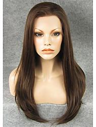 """imstyle 24 """"каштановый синтетические шелковистые прямые кружева перед парики-N2"""