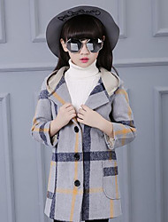 Girl's Casual/Daily Striped Suit & BlazerCotton Winter / Fall Blue