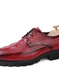 oxfords homens da mola trepadeiras queda sapatos formal casamento escritório de couro conforto&festa de carreira&noite babados