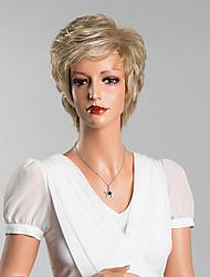 élégant court capless vague naturelle perruques qualité supérieure cheveux humains couleur mélangée