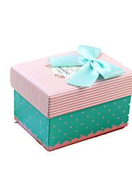 NOTA tres presente para la venta tamaño de 10 * 7,5 * 6,5 cm matrimonio caja de regalo feliz cumpleaños