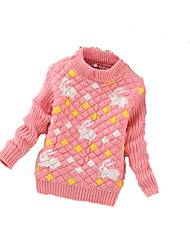 Girl's Casual/Daily Striped Sweater & CardiganWool Winter Black / Blue / Green / Pink / Red / Yellow / Gray