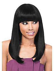 qualidade superior longa sem tampa reta lisa perucas de cabelo humano