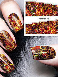 1 Sheet DIY Decals Nails Art Water Transfer Printing Stickers Accessories For Manicure Salon YZW-8176