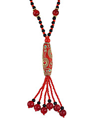 Bohemian Style Colorful Beads Long Chain Necklace