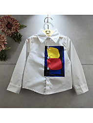 Girl's Casual/Daily Print ShirtCotton Spring / Fall White
